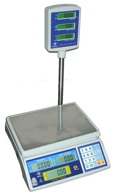 T -FDP110-3 to FDP110-30 Price Computing Scale with Pole Display